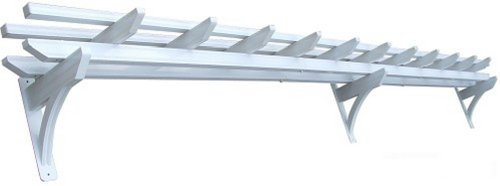DC America WAPG118 18-Foot Wall Pergola with Rust Free Aluminum, Powder Coat White Finish photo