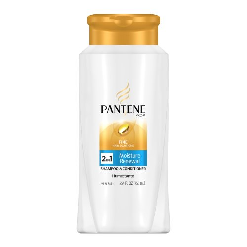 Pantene Pro-V Fine Hair Solutions Moisture Renewal 2in1 Shampoo and Conditioner, 25.4-Fluid Ounce