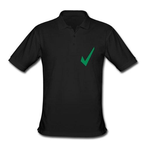Spreadshirt, check, Men's Classic Polo Shirt, black, XL