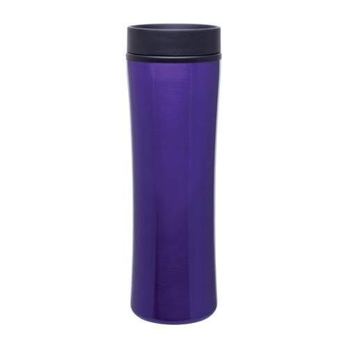 Stainless Steel Thermo Commuter Tumbler - Double Wall - 16Oz. Capacity - Purple