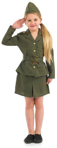 Extra Large Khaki Girls WW2 Army Girl Costume (Girls Ww2 Costume)