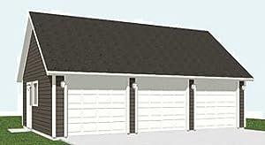 Garage plans 2 car 600 2c 30 39 x 22 39 three car for 32x40 garage plans