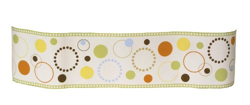 Sumersault Pop Dot Wallborder, Tan/Green/Orange (Discontinued by Manufacturer)