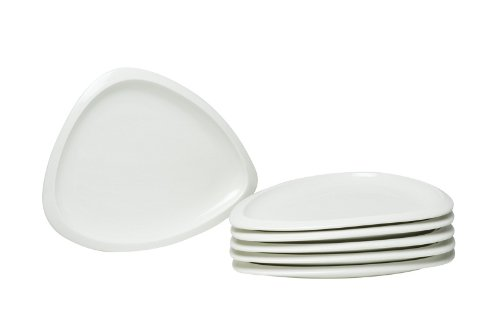 Red Vanilla Trends 8-1/4-Inch Triangle Plates, Set Of 6 front-249711
