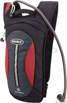Source Descender Winter Hydration Pack: Black/Red; 70oz