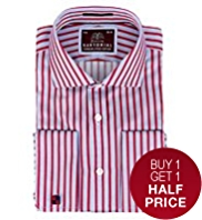 Sartorial Luxury Pure Cotton Striped Shirt