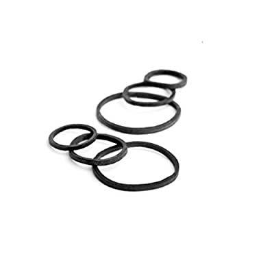 Goody Ouchless No Metal Black Elastics Storage Pack, 4mm, 70 Count