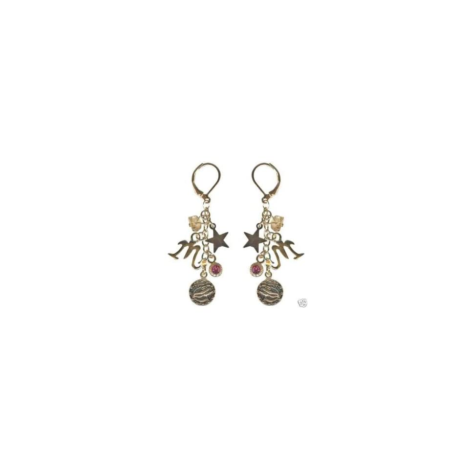 Kirks Folly Crystal Star Gazer Earrings Scorpio Zodiac