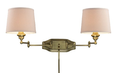 Elk 11221/2 Westbrook 2-Light Dual Swing Arm Sconce In Antique Brass front-91980