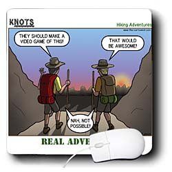 Rich Diesslin KNOTS Scout Cartoons - Knots Hiking Adventure - Real Adventure - Mouse Pads