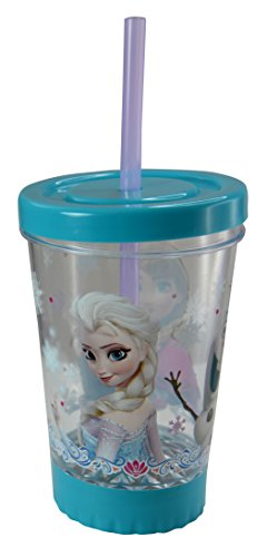 Disney Frozen Kids 12oz Light Up Fun Sip LED Tumbler with Straw (Disney Frozen Drinking Cups compare prices)