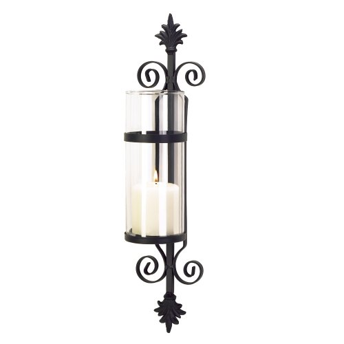 Gifts & Decor Fleur De Les Candleholder Decorative Glass Wall Sconce