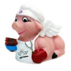 CelebriDucks Holy Smoker Flying Pig Barbeque Chef Bath Toy - 1