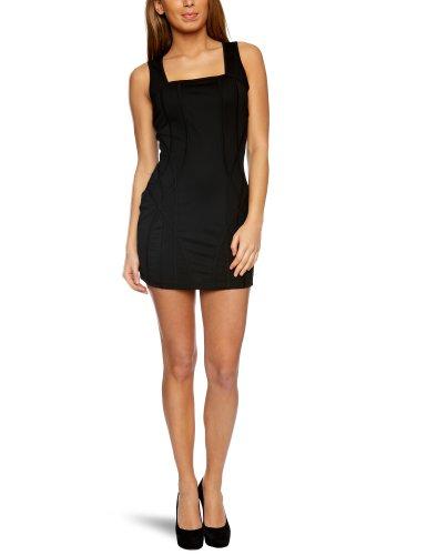 House Of Dereon Paneled Women's Dress Black Medium