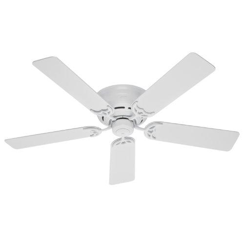 Hunter 20803 52-Inch Low Profile III 5-Blades Ceiling Fan (White)