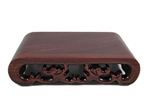 "Rectangle Display Stand - Red Suan Zhi Wood - 3.5""x2.3"""