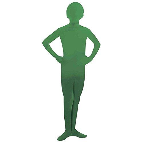 GSG Morph Costume Kids 2nd Skin Suit Spandex Bodysuit Zentai Halloween Dress (Green Morph Mask)