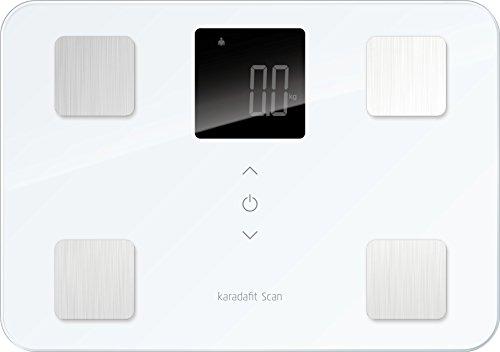 「karadafit Scan」iPhoneとBluetooth連携して6,480円で購入できる体重体組成計