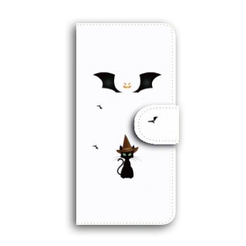Xperia Z5 /SO-01H /L /手帳型 猫とコウモリ 手帳ケース...