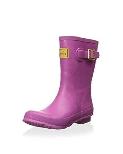 Joules Women's Kellywelly Rain Boot, Magenta, 6 M US