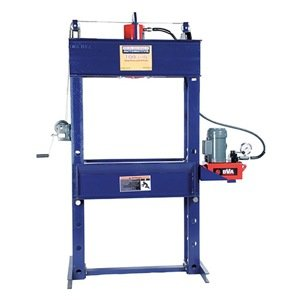 Hein-Werner Hw93610 Blue Shop Press With Electric Pump - 100 Ton Capacity