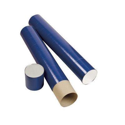 Alvin 25In Jute Fiberboard Mailing Tube, Indigo Paper Wrap, 6In Diameter
