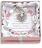 Love, Daughter, Forever Silver & Crystal Expressively Yours Bracelet