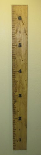 Engraved Wood Growth Chart