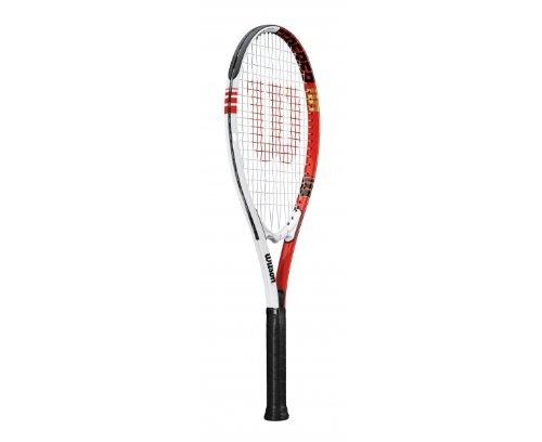 Wilson Federer110 Tennis Racquet - Red/White, 27.25 Inch