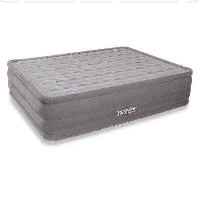 Intex Queen-Size Elevated Airbed With Built-In Electric Pump