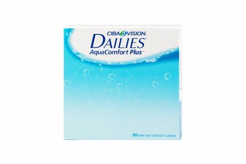 Ciba Vision Focus Dailies AquaComfort Plus Tageslinsen weich, 90 St&#252;ck / BC 8.7 mm / DIA 14.0 / -1,25 Dioptrien