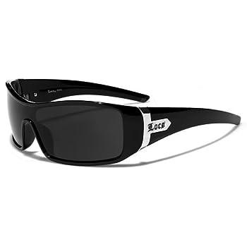 Locs Lunettes de Soleil Ville - Moto - Mode - Fashion - Clubbing - Conduite - Plage / Mod. Harley Noir / Taille Unique Adulte / Protection 100% UV400