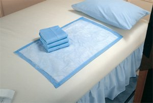 Blue Disposable Underpads (Chux), Small Size 17 x 24, Case/100