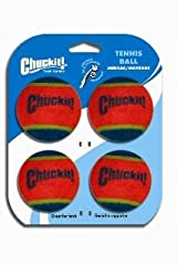 Chuckit! TENNIS BALLS Medium Dog Fetch Toy 4 PACK Fits Regular Launcher