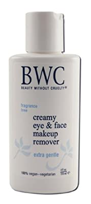 Beauty Without Cruelty Facial Care Creamy Eye Make-Up Remover 4 fl. oz. Fragrance-Free Skin Care (a)
