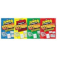 The JUMBO Book of EXTREME Activities Set of 4 (Red, Blue, Green, Yellow) - 1