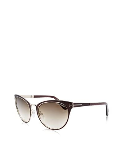 Tom Ford Women's TMF-SUNG-FT0373-48F-56 Designer Sunglasses, Brown & Gold