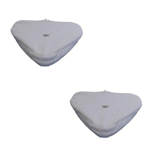 2 Ersatztücher Mikrofaser-Bodentücher für Clean Maxx Dampfbesen Premium