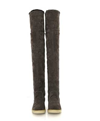 Autumn Winter New Boots Snow Boots Tall Canister Martin boots, Thick Bottom Shoes Knee-High Boots Female Boots Size 8