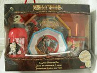 Disney Pirates Of The Caribbean Dinnerware - 6pcs dining mealtime set - 1