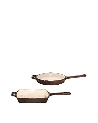 BergHOFF Neo 2-Piece Cast Iron Set, Chocolate