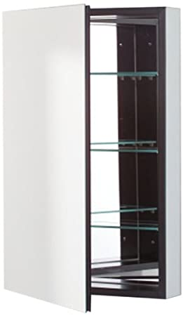 Robern CB-PLM2030BRE  Pl-Series Right-Side Flat Mirror Medicine Cabinet with Outlet, Black