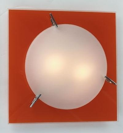 Deko Light Wand/Deckenleuchte Luana, Glas Orange/satiniert 206530