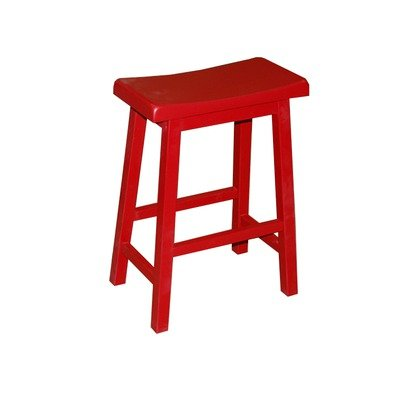 TMS 30-Inch Arizona Sadde Stool, Red