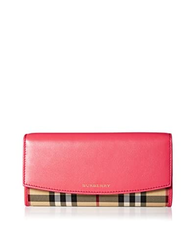 Burberry Women's Leather Wallet, Pink