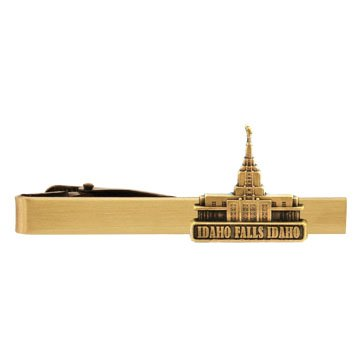 LDS Idaho Falls Idaho Temple Gold Steel Tie Bar - Tie Clip - Priesthood Gift, LDS Missionary, Tie Clip