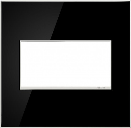 Legrand (AWM2GMB4) adorne Mirror Black, 2-Gang Wall Plate