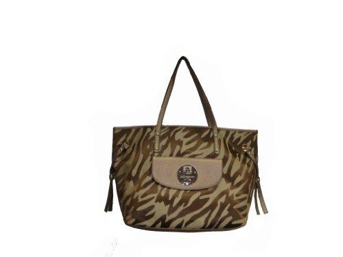 Anne KleinAnne Klein Women's Embossed Mane -MMN Handbag, Large, Khaki