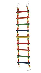 Tinfiber Pet Toys Swing Wooden Bird Ladder Bridge Toy Bird Parrot Ladder Climb Crawling Bridge Toy Shelf Cage