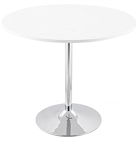 Kokoon DT00120WH Turno Table à Diner Verre Blanc 90 x 160 x 74 cm